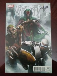 Uncanny Avengers (2015) #1 Dell Otto 1:25 Variant Unread signed Rick Remender