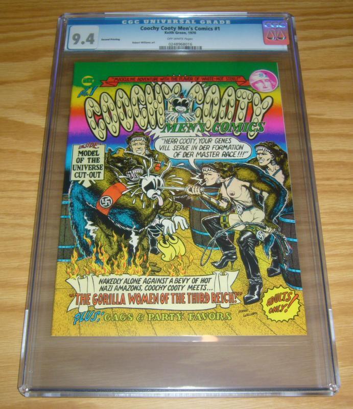 Coochy Cooty Men's Comics #1 CGC 9.4 high grade underground comix 1970 second
