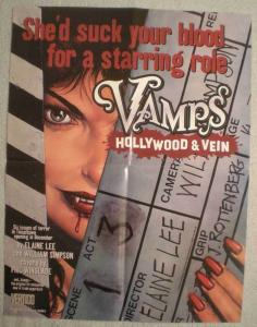 VAMPS HOLLYWOOD & VEIN Promo poster, 17 x 22,  Unused, more in our store