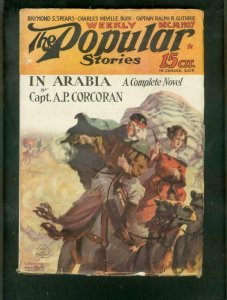 POPULAR STORIES PULP-12/10/27-IN ARABIA-CAPT CORCORAN- VG