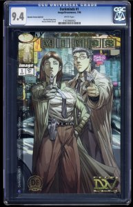 Darkminds #1 CGC NM 9.4 White Pages Dynamic Forces Gold Foil!