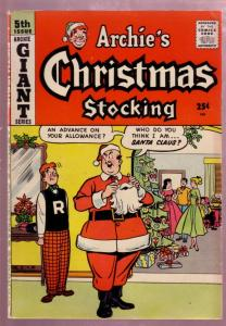 ARCHIE'S CHRISTMAS STOCKING #5 1958 ARCHIE GIANT SERIES FN/VF