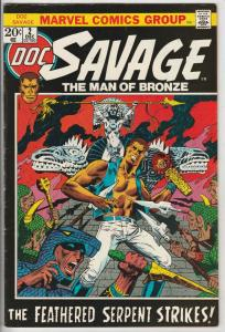 Doc Savage the Man of Bronze #2 (Dec-72) VF High-Grade Doc Savage