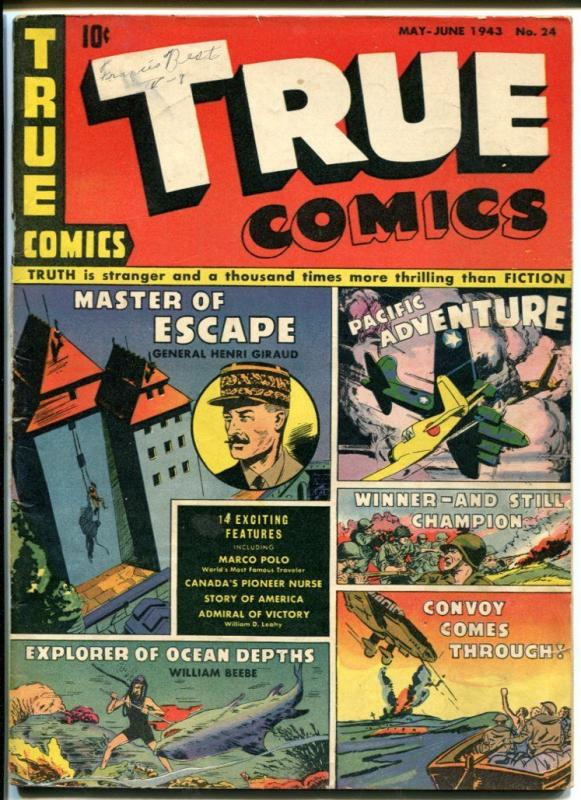 TRUE COMICS #24-WORLD WAR II-MARCO POLO STORY VG/FN