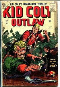 Kid Colt Outlaw #67 1956-Atlas-Joe Maneely-Syd Shores-VG