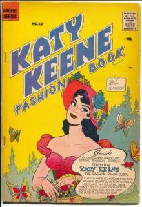 Katy Keene Fashion Book #20 1958-Bill Woggon-fashions-pin-ups-paper dolls-VG