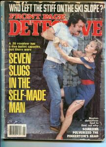 FRONT PAGE DETECTIVE-01/1982-WHO LEFT THE STIFF ON THE SKI SLOPE-PULVERIZED VG