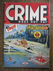 CRIME DOES NOT PAY #48 (Lev Gleason,11/1946) FINE (F) Golden Age Crime!