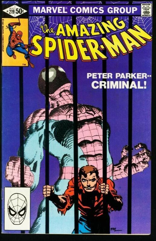 AMAZING SPIDER-MAN #219-1981-MARVEL VF