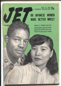 Jet 11/12/1953-James & Teruko-Spike Miller-African-American culture-VG