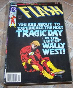 FLASH # 76 MAY 1993  dc comics  cw tv show  WALLY WEST  REVERSE FLASH BARRY