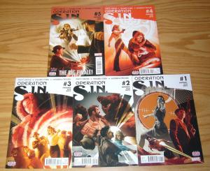 Operation S.I.N. #1-5 VF/NM complete series - agent carter - howard stark - sin
