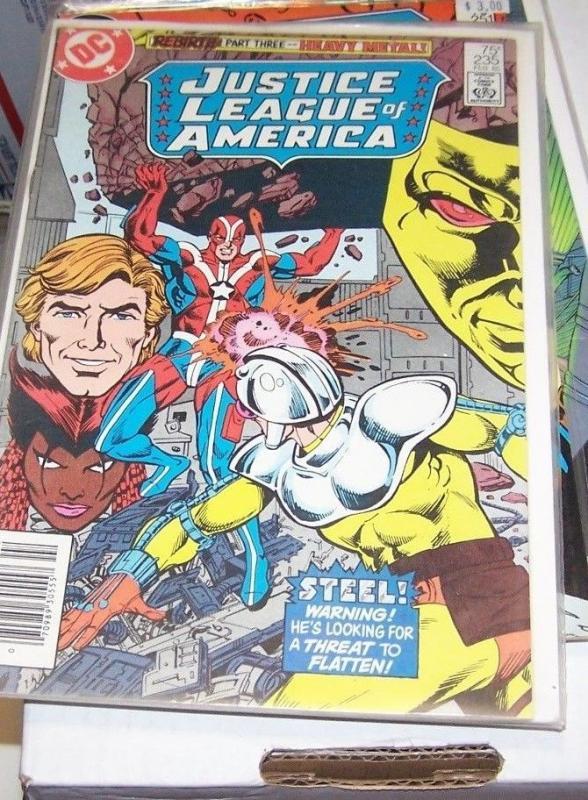 justice league of america  # 235 1984 dc  REBIRTH PT 3 VIBE STEEL GYPSY VIXEN
