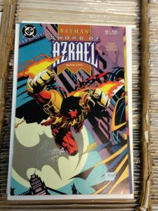 Batman Sword of Azrael 1 1st App. Azrael signed by Quesada NM-