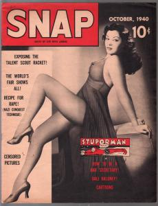 Snap #2 10/1940-2nd issue-cheesecake-cartoons-Stuporman-swimsuits-VF