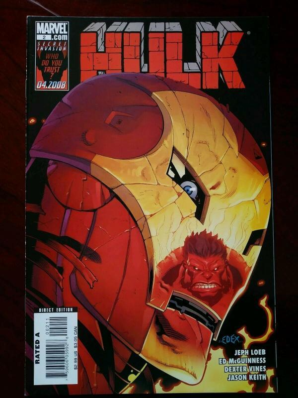 Hulk #2 (Marvel 2008) 1st App A-Bomb Immortal Hulk Story-line