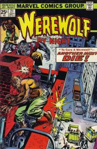 Werewolf By Night #21 FN; Marvel   save on shipping - details inside