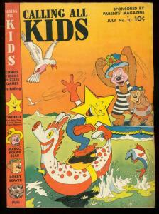 CALLING ALL KIDS #10 1947 FUNNY ANIMALS OVERSIZED ISSUE FN