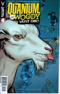 Quantum And Woody Must Die #4B VF; Valiant Comics | save on shipping - details i
