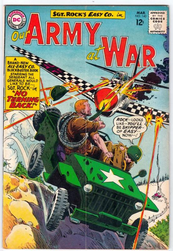 Our Army at War #140 (Mar-64) VG+ Affordable-Grade Easy Company, Sgt. Rock