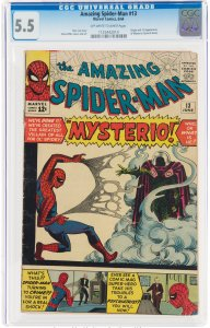 The Amazing Spider-Man #13 (1964) CGC Graded 5.5