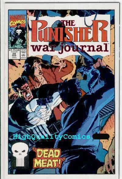 PUNISHER WAR JOURNAL #28, NM+, Mike Baron, Texeira,1988, more Marvel in store