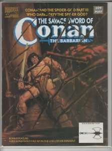 SAVAGE SWORD OF CONAN #209 F A04983