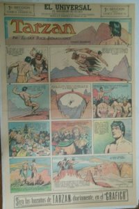 Tarzan Sunday Page #622 Burne Hogarth from 2/7/1943 in Spanish! Full Page Size