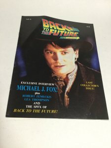 Back To The Future Fan Club 4 Last Issue Oversized