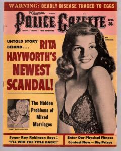 National Police Gazette 4/1964Rita Hayworth cover-cheesecake-Hitler-VG/FN