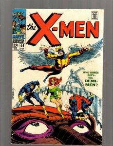 (Uncanny) X-Men # 49 FN Marvel Comic Book Beast Angel Cyclops Magneto SM19