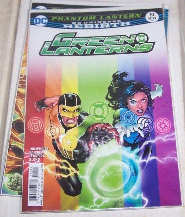 GREEN LANTERNS 10 JAN  2017 PHANTOM LANTERN  REBIRTH DC JESSICA BAZ