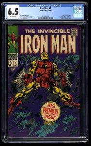 Iron Man #1 CGC FN+ 6.5 Off White Marvel Comics