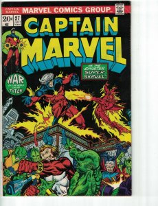Captain Marvel #27 VG bronze age marvel comics - jim starlin - super-skrull 1973