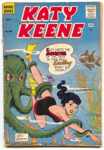 Katy Keene #60 1961-Archie comics- Octopus cover FAIR