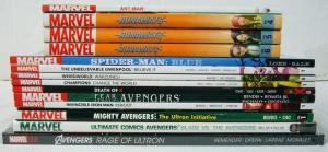 Lot of (15) Marvel TPBs - avengers - spider-man blue - runaways - (value: $240)