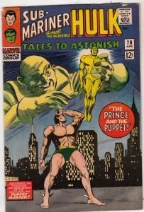 Tales to Astonish #78 (Apr-66) VG/FN Mid-Grade Incredible Hulk, Namor the Sub...
