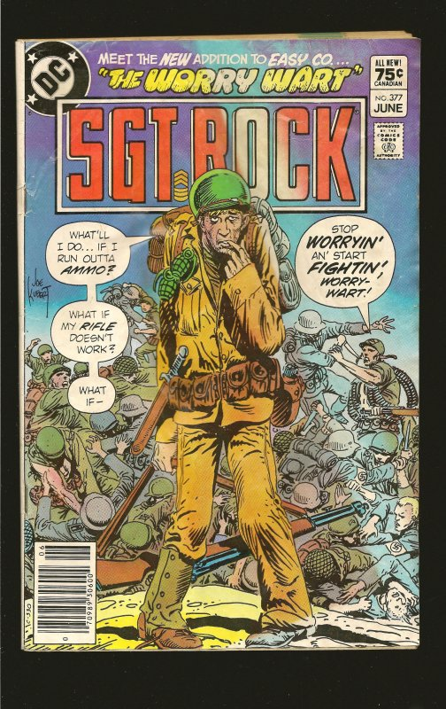 DC Comics Sgt Rock Vol 32 No 377 June 1983 see note for condition issues