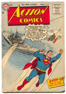Action Comics #214 1956- DC Silver Age- Superman FN-