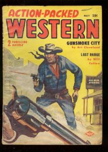 ACTION-PACKED WESTERN PULP MAY 1957-JESSE JAMES STORY-very good plus VG+