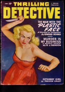 THRILLING DETECTIVE 1950 JUNE FILE COPY WILD BLONDE GGA VF
