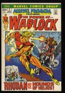 Marvel Premiere #2 VF- 7.5 Warlock! Comics