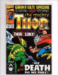 Marvel Comics (1966) The Mighty Thor #432 350th App. 1st Eric Masterson as Thor