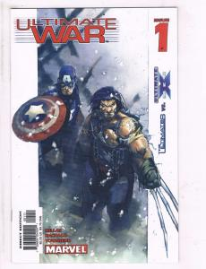 Lot Of 4 Ultimate War Marvel Comic Books # 1 2 3 4 Super Heroes TW33