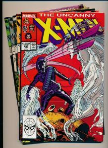 MARVEL Great LOT!!! UNCANNY X-MEN #230-234 VG/F (PJ73)