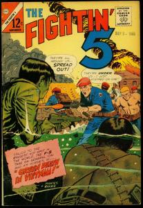Fightin' 5 #38 1965- Charlton Silver Age War comic- Green Death in Vietnam VG/FN