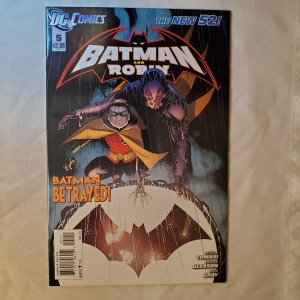 Batman and Robin 5 Very Fine/Near Mint Cover by Patrick Gleason