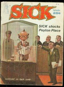 SICK MAGAZINE #8-SEPT 1961-TV GAME SHOWS--PEYTON PLACE VG