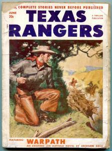 Texas Rangers Pulp June 1952- Louis L'Amour- Jim Hattfield- Western G/VG