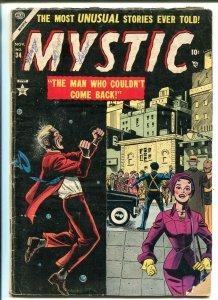 MYSTIC #34 1954-ATLAS-SCI-FI-DINOSAURS-VIOLENCE-TERROR-PRE-CODE HORROR-good